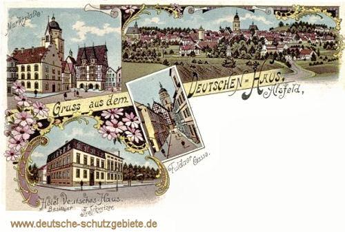 Alsfeld, Marktplatz, Hotel Deutsches Haus
