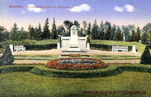 Beuthen O.-S., Bismarck-Denkmal im Stadtpark