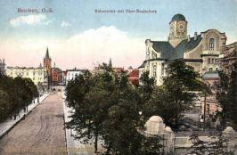 Beuthen O.-S., Kaiserplatz mit Ober-Realschule