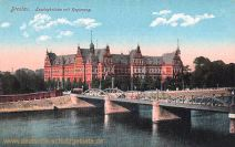 Breslau, Lessingbrücke mit Regierung