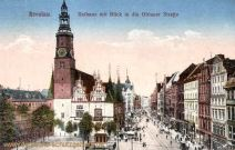 Breslau, Rathaus mit Blick in die Ohlauer Straße