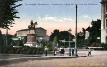Darmstadt, Paradeplatz, Großherzog Ludwig IV.-Denkmal mit Hoftheater