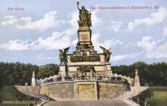 Der Rhein - Das Nationaldenkmal bei Rüdesheim