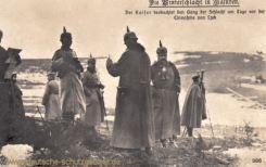 Die Winterschlacht in Masuren: Der Kaiser beobachtet den Gang der Schlacht am Tage vor der Einnahme von Lyck