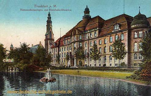 Frankfurt a. M., Hohenzollernanlage und Eisenbahn-Direktion