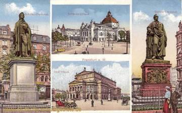 Frankfurt a. M. - Schillerdenkmal - Goethedenkmal