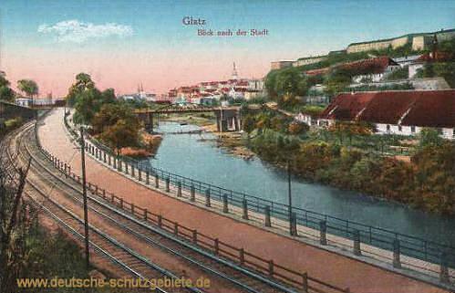Glatz, Blick nach der Stadt