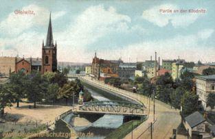 Gleiwitz, Partie an der Klodnitz