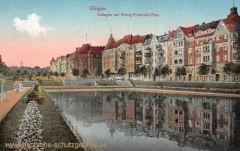 Glogau, Anlagen am König-Friedrich-Platz