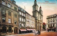 Glogau, Markt mit Katholischer Gymnasial-Kirche
