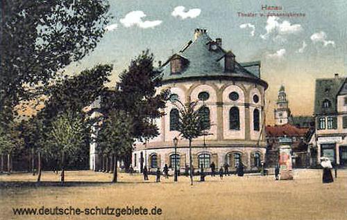 Hanau, Theater und Johanniskirche