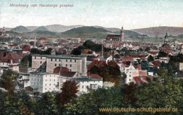 Hirschberg in Schlesien vom Hausberge gesehen