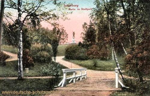 Insterburg, Partie am Stadtpark