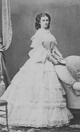 Kaiserin Elisabeth von Österreich, Foto von Ludwig Angerer um 1860