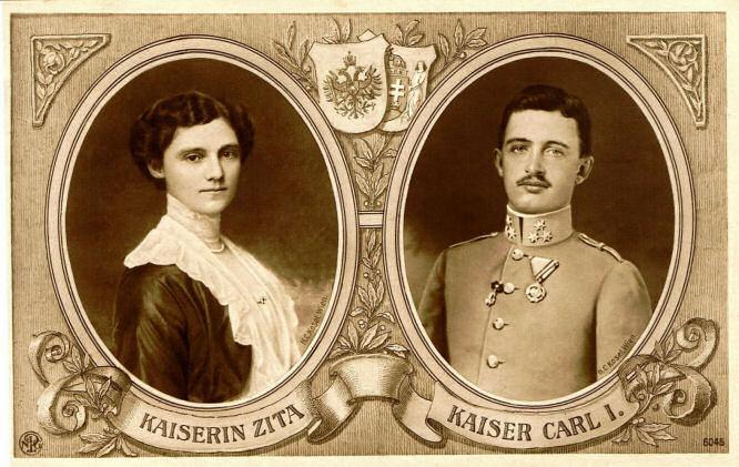 Kaiserin Zita und Kaiser Carl I.