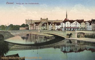 Kassel, Partie bei der Fuldabrücke