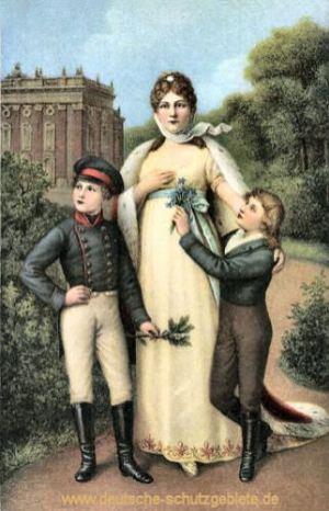 Königin Luise mit ihren Söhnen (dem späteren König Friedrich Wilhelm IV. und Kaiser Wilhelm I.)