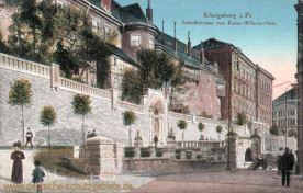 Königsberg i. Pr., Schlossterrasse vom Kaiser Wilhelm-Platz