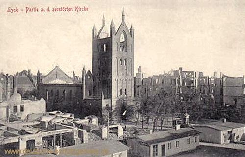 Lyck, Partie a. d. zerstörten Kirche