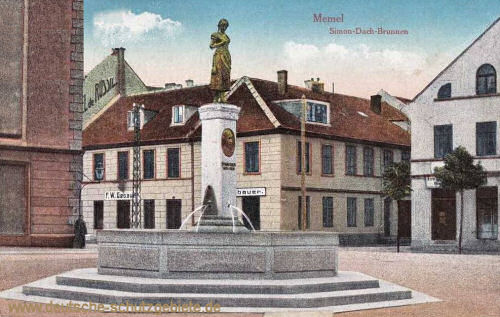 Memel, Simon-Dach-Brunnen