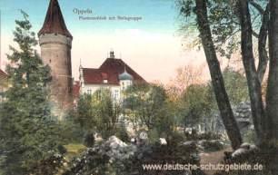 Oppeln, Piastenschloss mit Steingruppe