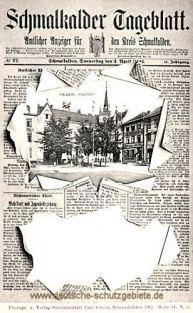 Schmalkalder Tageblatt, Kaiserliches Postamt