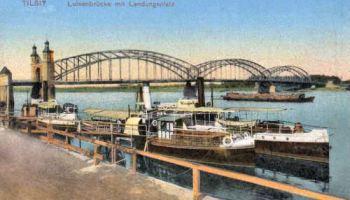 Tilsit, Luisenbrücke mit Landungsplatz