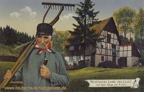 Westfalen Land und Leute - Auf dem Wege zur Arbeit