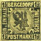 Bergedorf Postmarke, 1½ Schilling