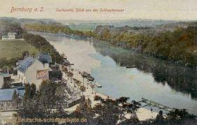 Bernburg, Saalepartie, Blick von der Schlossterrasse