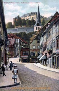 Blankenburg Harz, Tränkestrasse und Schloss