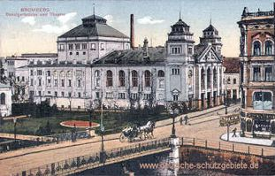 Bromberg, Danzigerbrücke und Theater