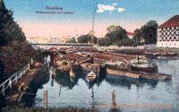 Bromberg, Wilhelmsbrücke mit Schleuse