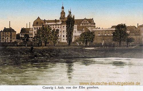 Coswig in Anhalt von der Elbe gesehen