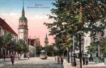 Dessau, Kavalierstraße und Postamt