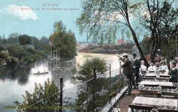 Dessau, Muldepartie vom Muldeschlösschen aus gesehen