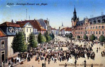 Erfurt, Sonntags-Konzert am Anger