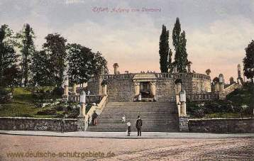 Erfurt, Aufgang zum Stadtpark