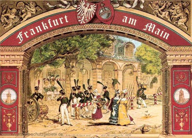 Frankfurt am Main, Die Scharfschützen auf der Hauptwache 1826