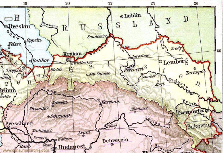 Galizien und Bukowina um 1900