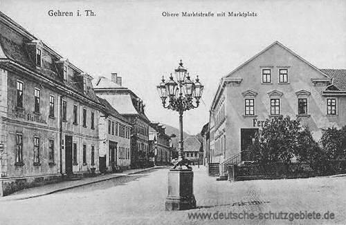 Gehren, Obere Marktstraße mit Marktplatz