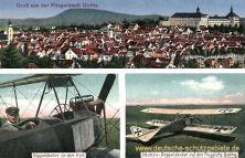 Gotha, Albatros-Doppeldecker auf dem Flugplatz