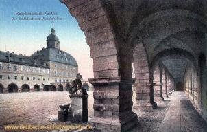 Residenzstadt Gotha. Der Schlosshof mit Wandelhallen