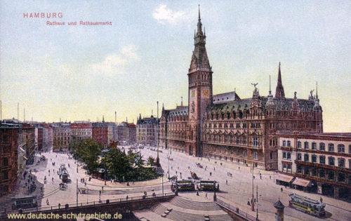Hamburg, Rathaus und Rathausmarkt