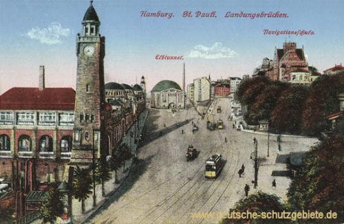 Hamburg, St.Pauli, Landungsbrücken
