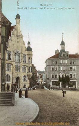 Helmstedt, Markt mit Rathaus