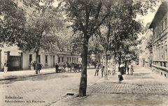 Hohensalza, Bahnhofstraße mit Kasernen