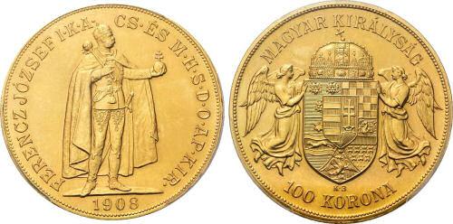 Kaiser Franz Joseph I., 100 Kronen, Königreich Ungarn 1908