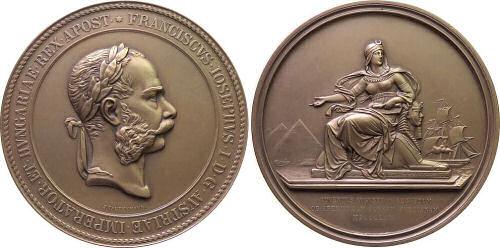 Kaiser Franz Joseph I,. Eröffnung des Suezkanals 1869