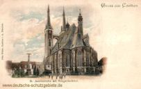 Köthen, St. Jacobskirche mit Kriegerdenkmal